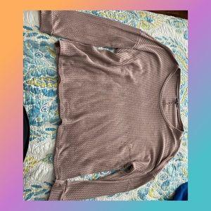 Charlotte Russe plus thermal long sleeve tee